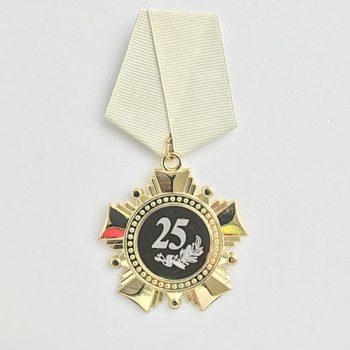 Изготовление юбилейной медали «25 лет»