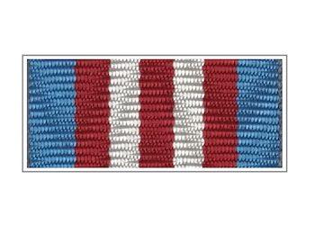 Лента медали «90 лет Вооруженным силам РФ»