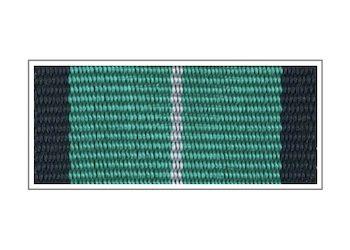 Лента медали Железнодорожных войск «За безупречную службу» I степени