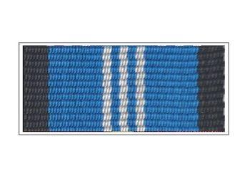 Лента медали Спецстроя России «За безупречную службу» III степени