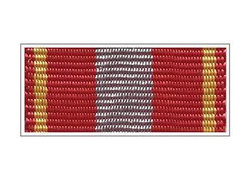 Лента медали «За доблесть» (в серебре)