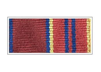 Лента медали «За отличие в службе» II степени