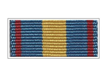 Лента медали «За укрепление УИС» (в золоте)