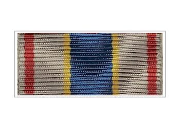 Лента медали «За вклад в развитие УИС России» (в серебре)