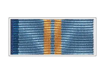 Лента медали «За заслуги и вклад» II степени