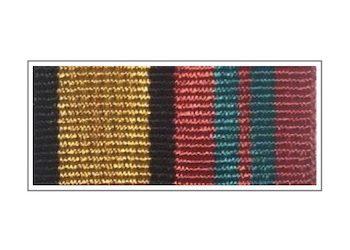 Орденская планка «За отличие в военной службе» II степени (нового образца)